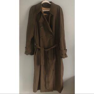 Ralph Ralph Lauren Brown Wool Lined Trench Coat 42